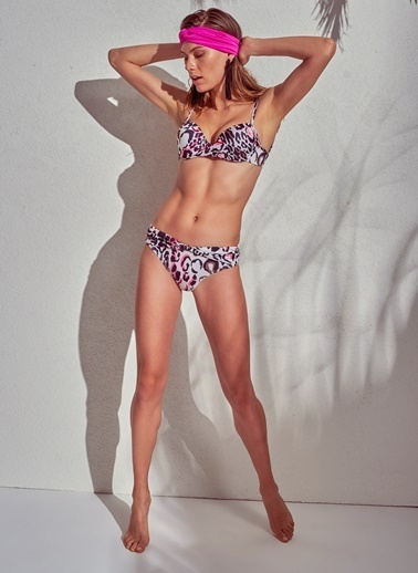 Morhipo Beach Leopar Desenli Bikini Renkli